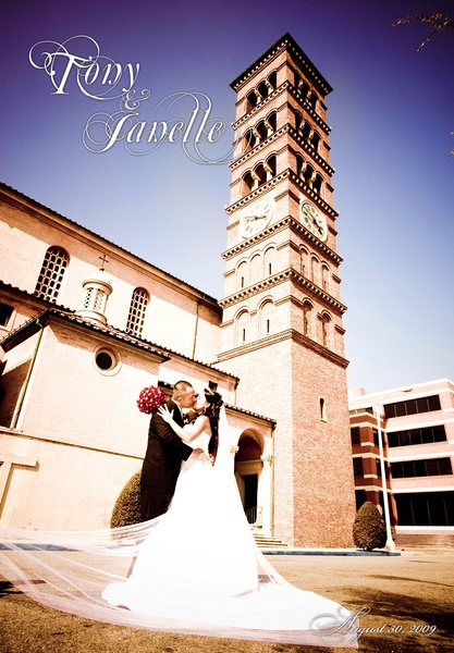 St. Andrews Catholic Church - Album Cover - Pasadena Wedding Photography
