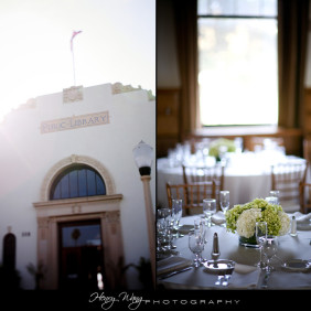 Redondo Beach Historic Library Wedding Reception Details