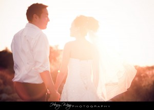 Pasadena City Hall Sunset Bridal Portrait Engagement Pictures