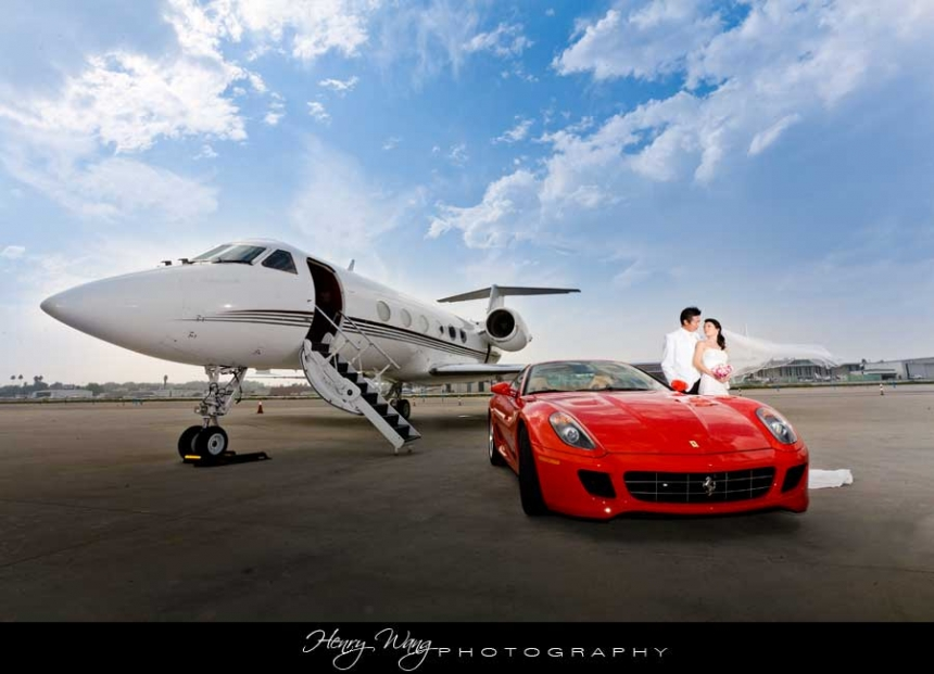 Gulfstream-IV-Ferrari-599-Wedding-Bridal-Portrait-by-Henry-Wang