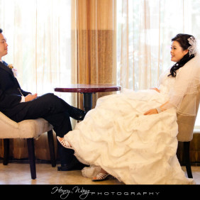 Almansor Court Wedding Ceremony + San Gabriel Hilton Photos + Capital Seafood Wedding Reception